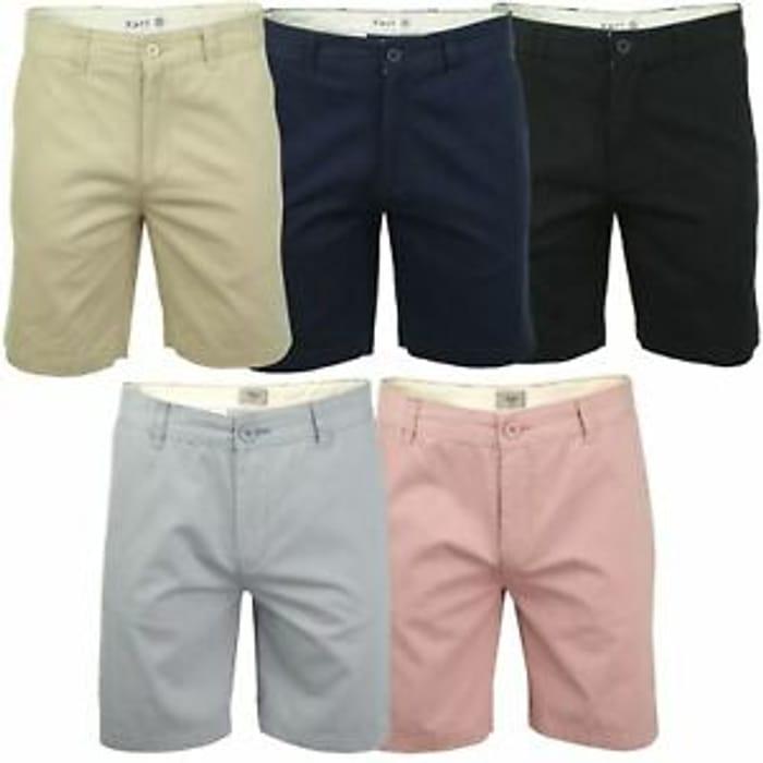 Details about Xact Chino Shorts Mens Soft Feel Cotton Fashion Garment