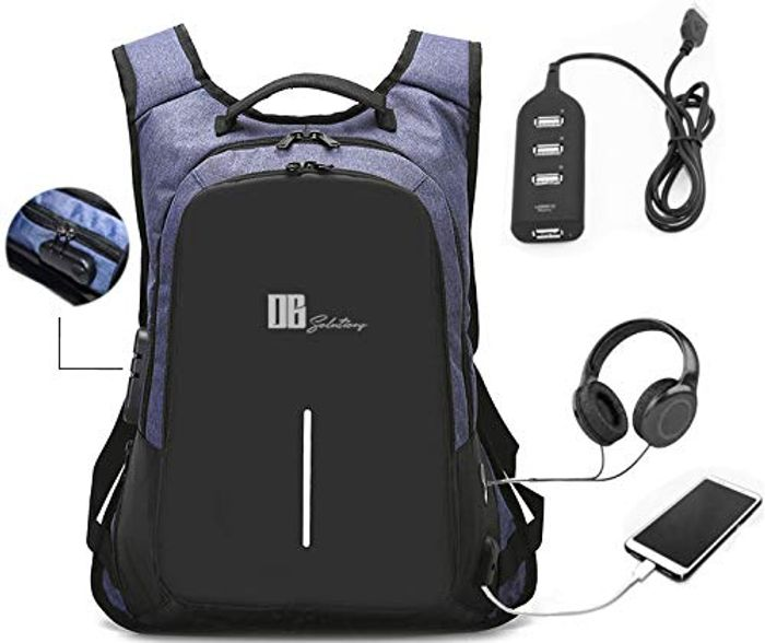 Laptop Backpack with Usb Charging - Save £17