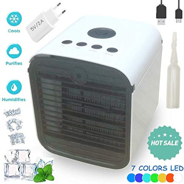Portable Cooler - 3 in 1 Mini Personal Air Conditioner, Humidifier & Purifier (
