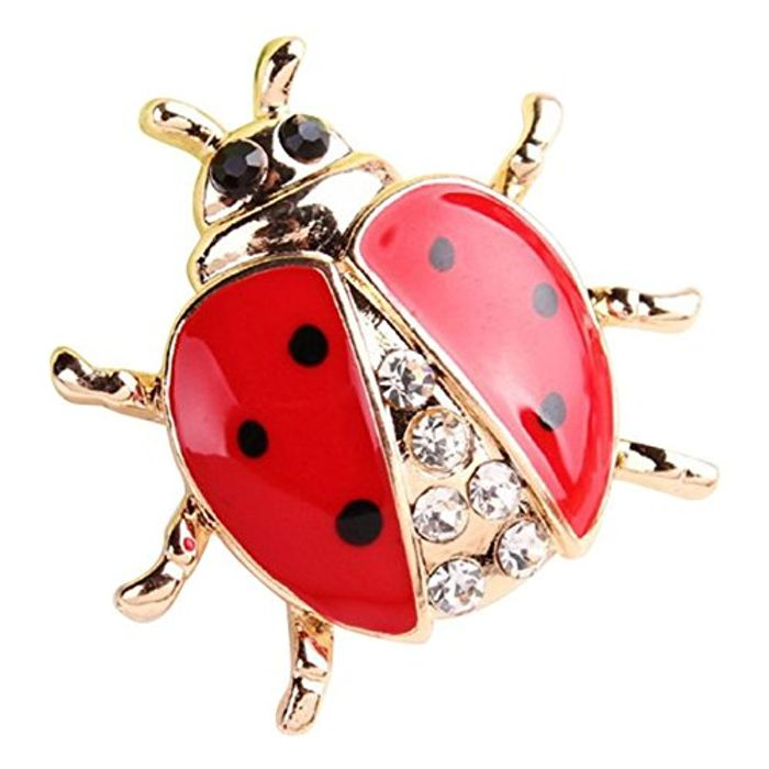 TOOGOO Fashion Animal Rhinestone Ladybug Brooch