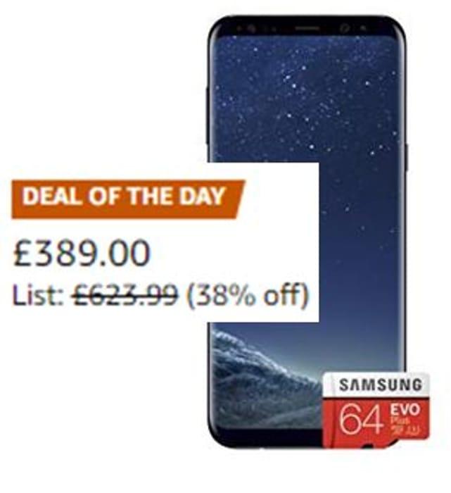 SAVE £235! Samsung Galaxy S8 Single SIM 64GB with EVO Plus Memory Card