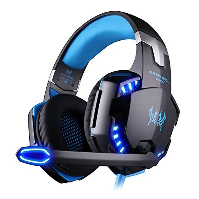EasySMX Comfortable LED 3.5mm Headphone Headset with Mic, Noise Cancelling