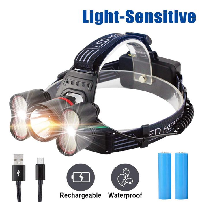 Head Torch Rechargeable Headlight 50% Off