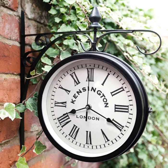 Outdoor Hanging Station Clock