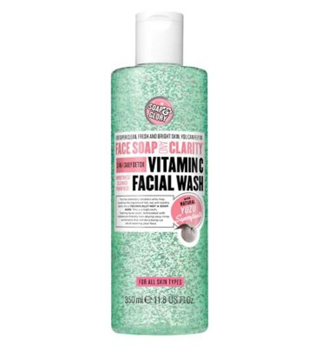 Soap & Glory Face Soap & Clarity 3-in-1 Daily Vitamin C Facial Wash 350ml