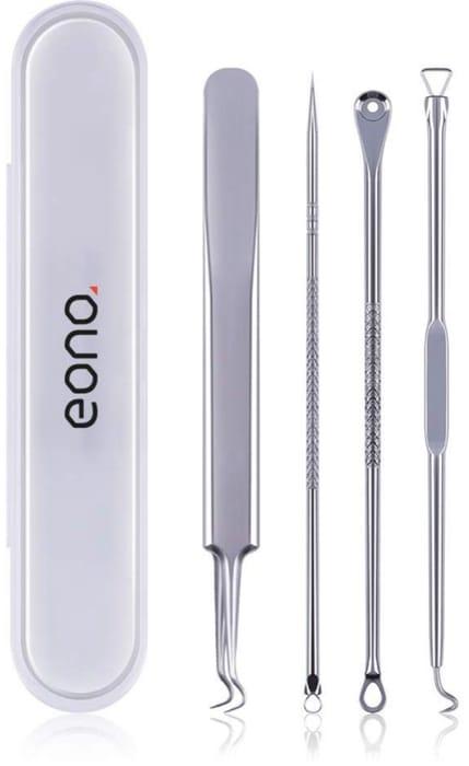 Eono Essentials Blackhead Remover Tool 4Pcs Professional Stainless Acne Spot