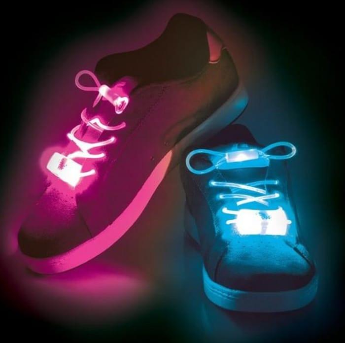 LED Light up Laces ~ 3 Function Flashing Shoelaces