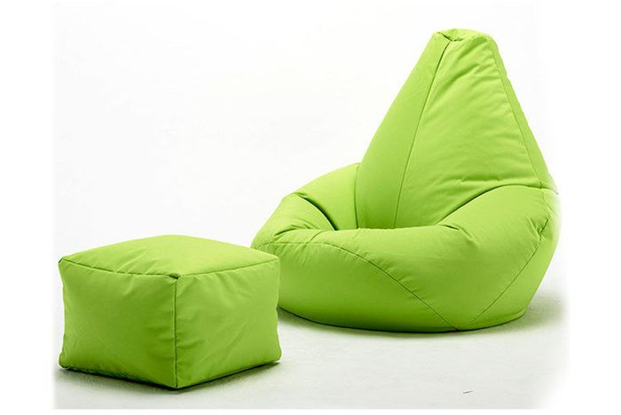 Highback Beanbag with Matching Footstool - 11 Colours!