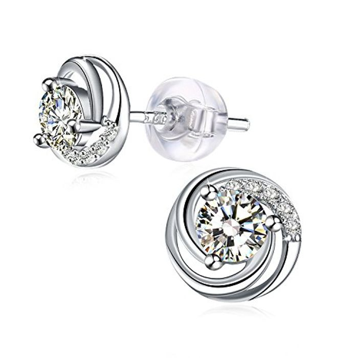 J.Rose Silver Stud Earrings - £5.10 from Amazon!
