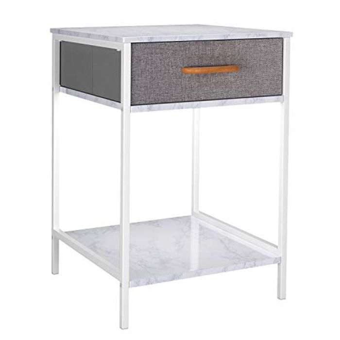 Homfa Bedside Table with Fabric Drawer - £16.99 from Amazon