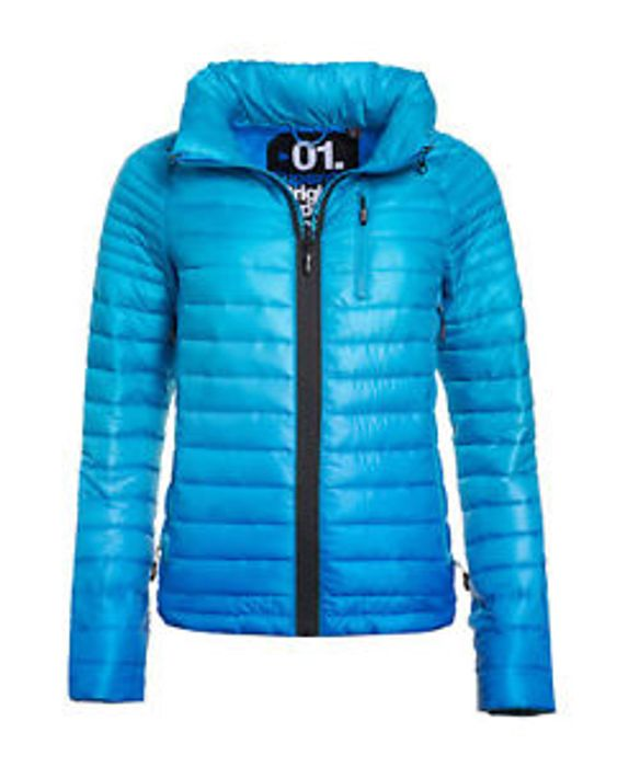 Womens Superdry Power Fade Jacket Electric Royal