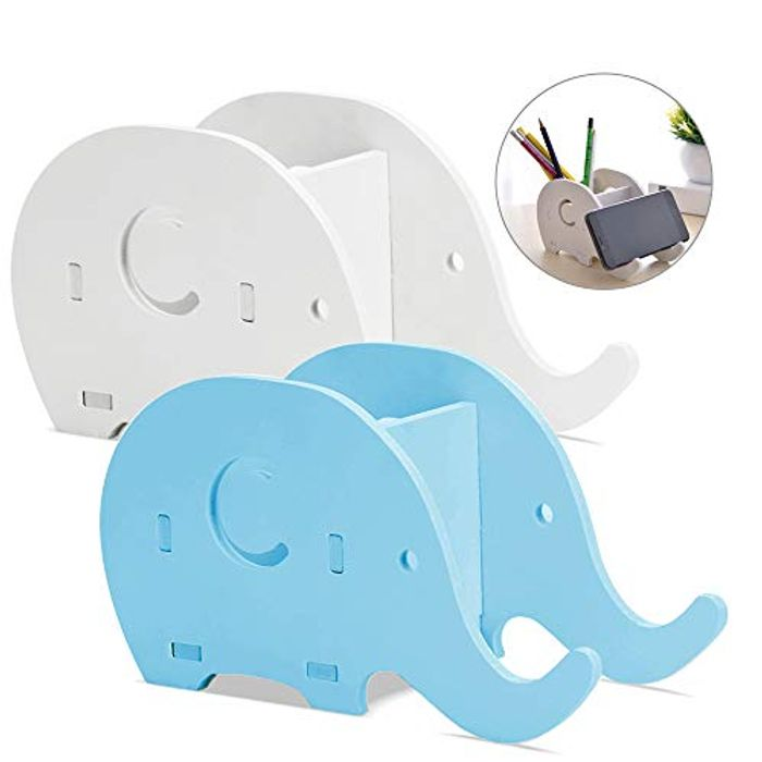 2x Elephant/Whale Desk Organisers with Mobile Phone Stand