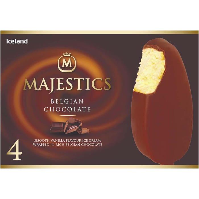 Iceland 4 Belgian Chocolate Majestics 480ml
