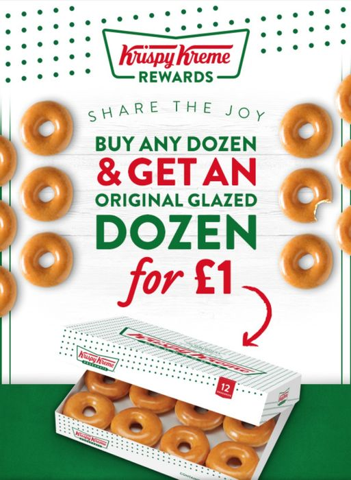 Buy Any Dozen & Get an Original Glazed Dozen for £1
