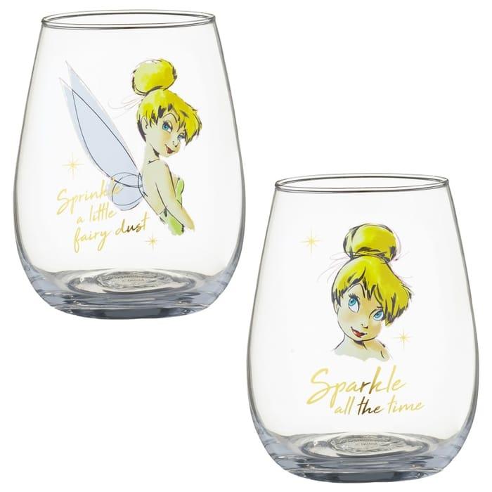 Disney Tumbler Glass Set 2pk - Tinkerbell