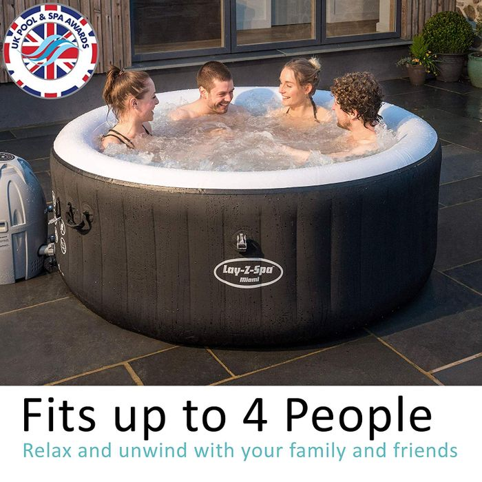 GOING VERY CHEAP! Lay-Z-Spa Miami Hot Tub, AirJet Inflatable Spa, 2-4 Person