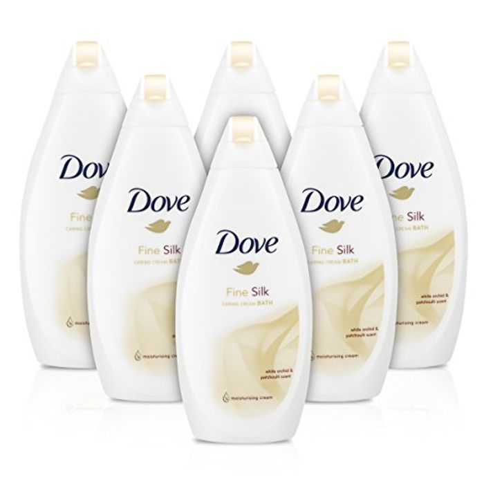 Dove Fine Silk Beauty Bath Cream, 500 Ml, Pack of 6