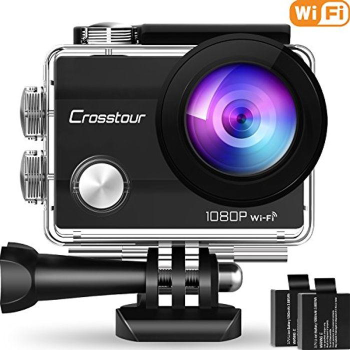 Crosstour Wifi Action Camera Full HD 1080P Waterproof Cam - Save £4