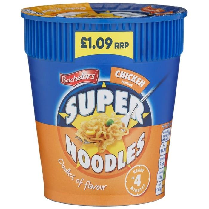 Under Half Price Batchelors Super Noodles - 75g Chicken - 54% Off