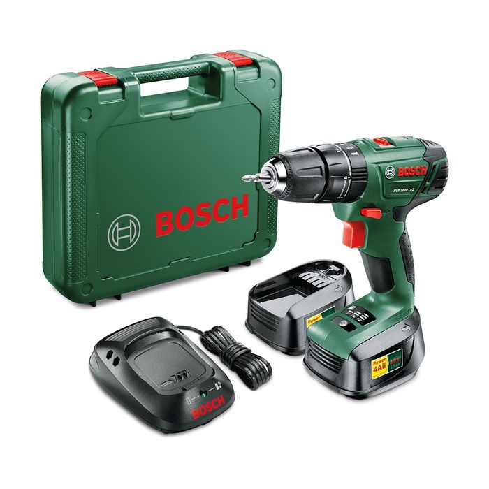 £67.99 with Voucher! Bosch PSB 1800 18V Cordless Drill + Spare Battery & Case