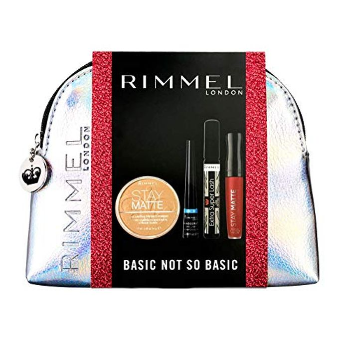 Rimmel Basic Not so Basic Silver Make up Bag Gift Set