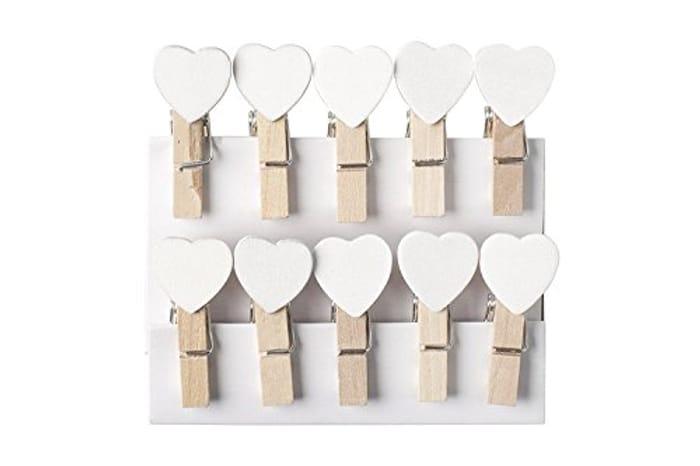 Mini Wooden Heart Pegs