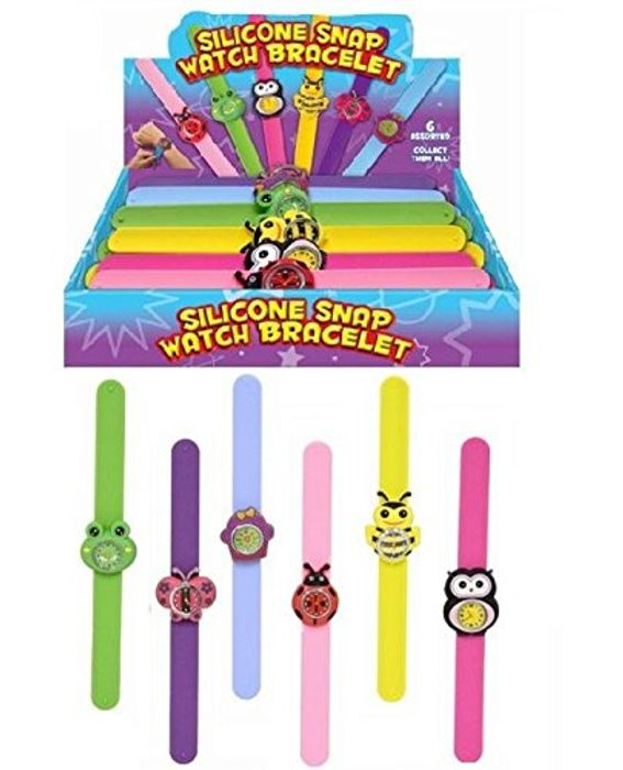 Childrens Silicone Snap Watch
