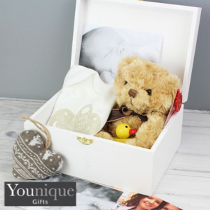 Personalised Fairytale Floral White Wooden Keepsake Box 12 99 At