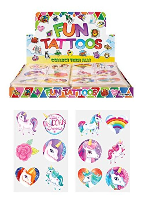 24 girls Temporary unicorn Tattoo + Free Delivery