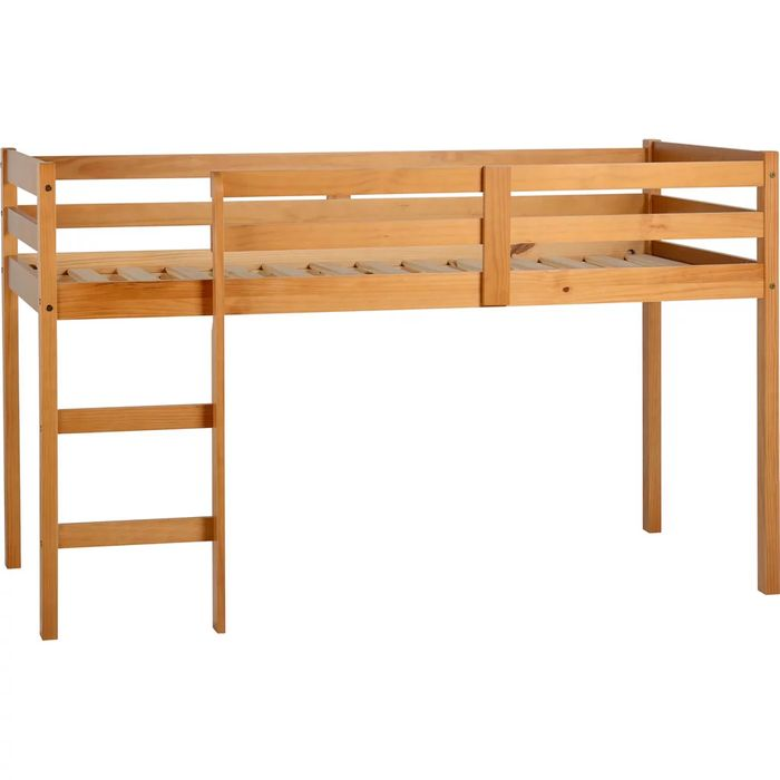 Panama Solid Pine mid Sleeper Single Bed with Antique Pine Finish