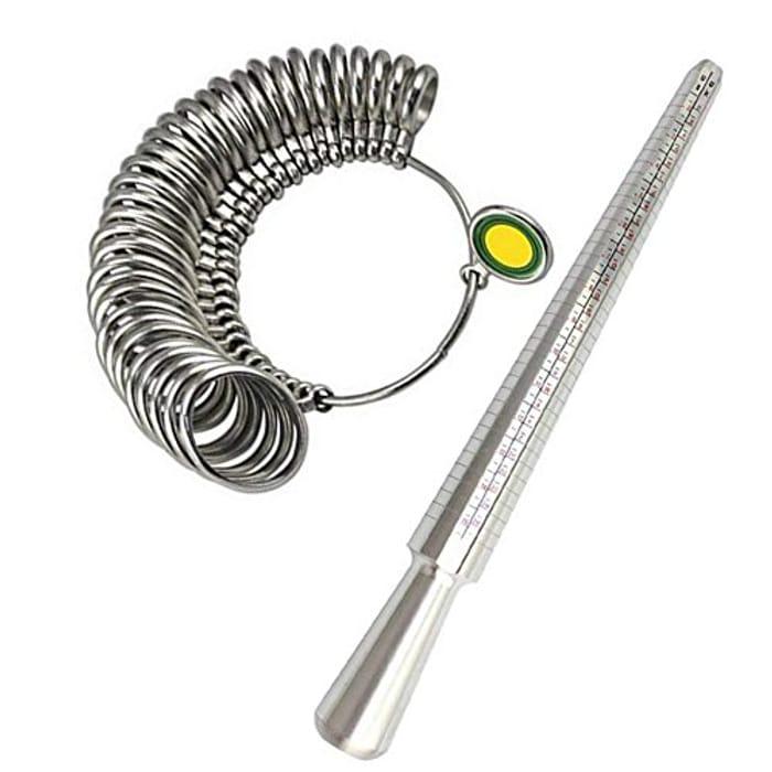 Meowoo Ring Sizer UK Measurement Scales Kit Tools