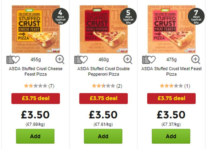 Stuffed Crust Pizza Bottle Of Coke Meal Deal Only 375 At