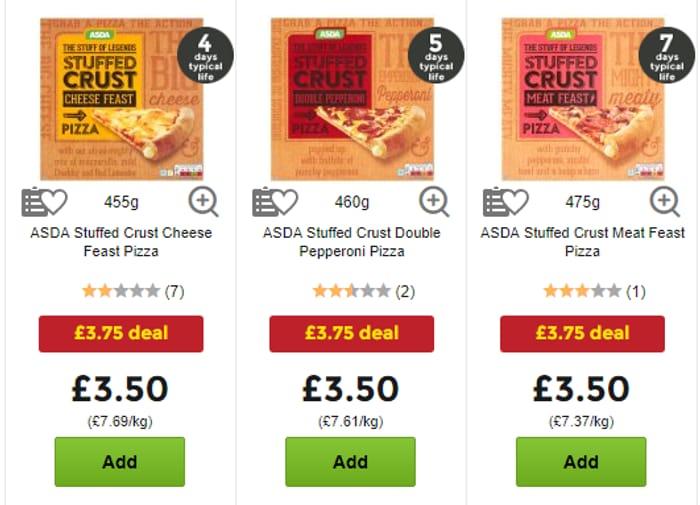 Stuffed Crust Pizza & Bottle of Coke Meal Deal only £3.75