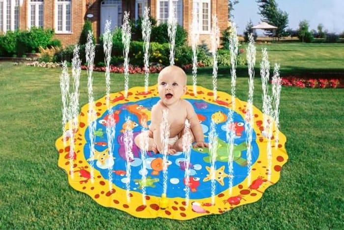 Inflatable Kids Sprinkler Splash Mat