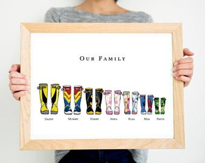 Personalised Family Welly Print