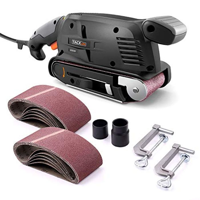 600W Sander Machine, Dust Extraction Box & 12PCS Sanding Belts