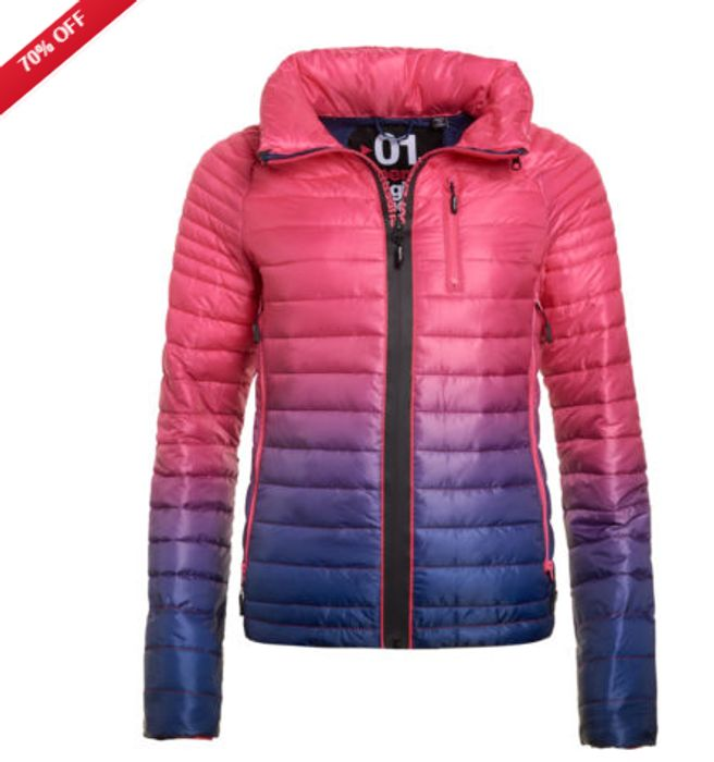 New Womens Superdry Power Fade Jacket Ink Only £32.99