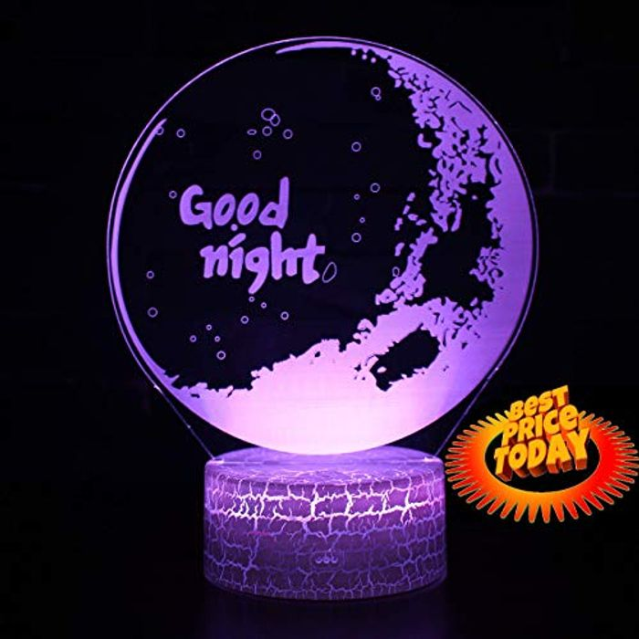 Night Lamp LED Optical Illusion 3D Moonlight 7 Colors - Remote Control