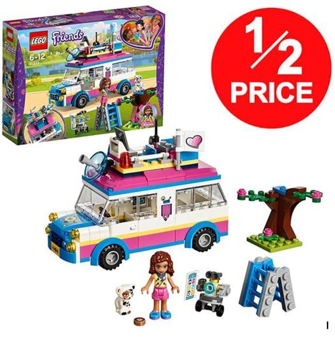 1/2 PRICE at AMAZON: LEGO FRIENDS - Olivia's Mission Vehicle