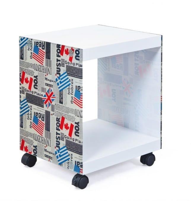 Flag Cube White Side Table