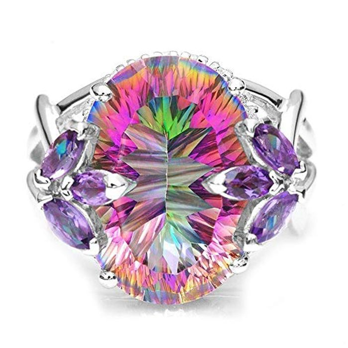Colorful Zircon Jewelry Ring