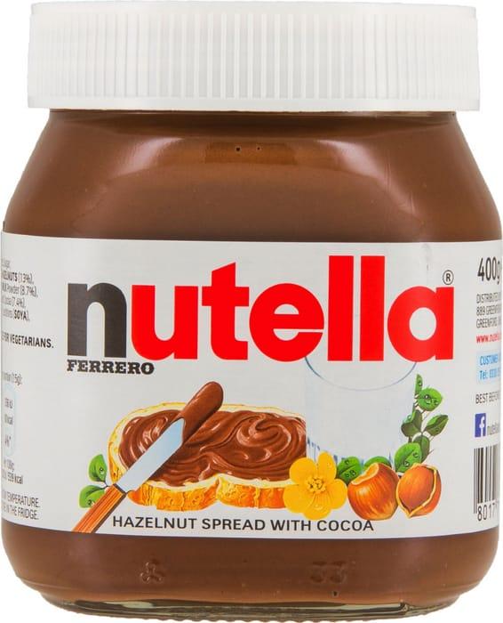 4x Nutella Hazelnut Spread 400g (4 Jars) - 62% Off