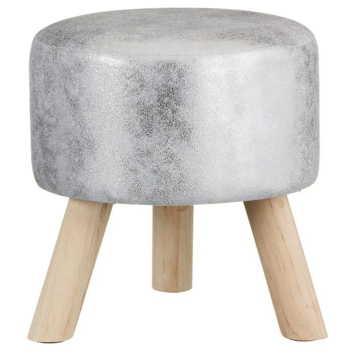 Home Decor Metallic Stool (Silver) - HALF PRICE