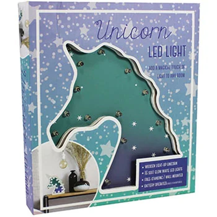 Wooden Unicorn LED Light Half Price 50%off@ the Works, Free C&C