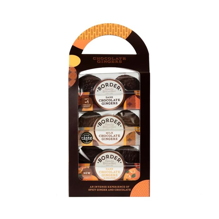 Border Biscuits - Chocolate Gingers Carry Pack - 525g
