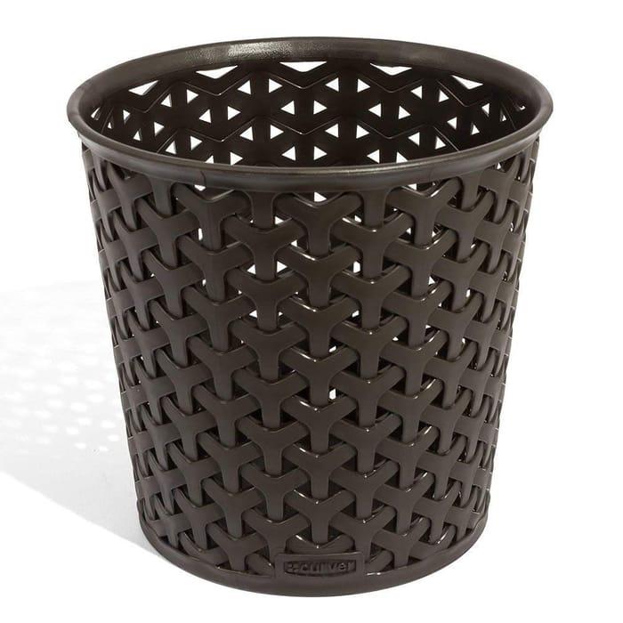 Curver My Style Storage Pot Basket Stackable Desk Organiser(Dark Brown) -57% Off
