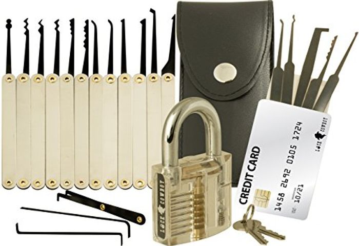 20-Piece Lock Pick Set with Transparent Training