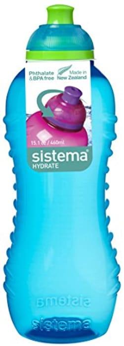 Sistema Twist 'n' Sip BPA Free Water Bottle, 460 ml - Blue Only £2.02