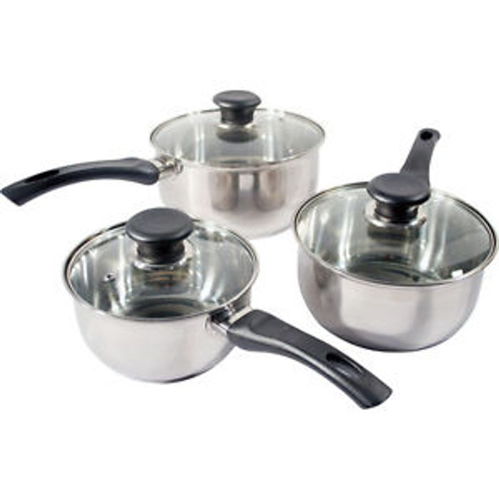 New 3pc Prima Stainless Steel Cookware Set