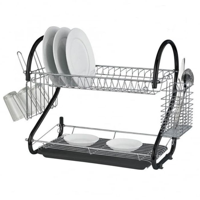 Save £3 on Stylish Black 2 Tier Dish Drainer